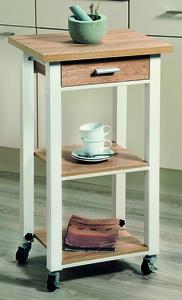 Kesper Küchenwagen, höhenverstellbar, weiß; 25789-13
