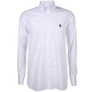 Herren Cityhemd mit Stickerei und Button-Down-Kragen