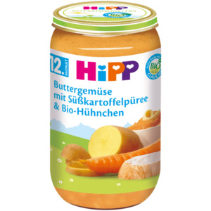 Hipp Buttergemüse-Süßkartoffel Bio-Hühnchen 250g