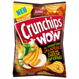 Lorenz Crunchips Wow Jalapeno 110g