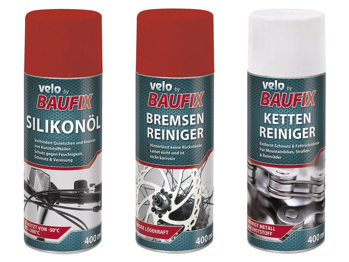 Bild 4 von VELO by Baufix® Silikon-Öl / Kettenreiniger / Bremsenreiniger