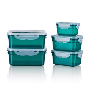 GOURMETmaxx Frischhaltedosen Klick-it 10-tlg. smaragd Deckel flexibel