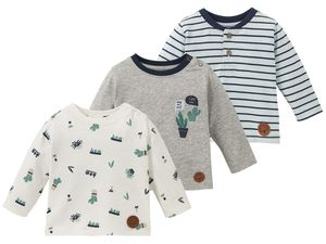 LUPILU® PURE COLLECTION Baby Jungen Langarmshirt