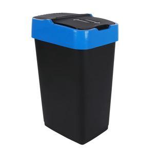 Abfalleimer mit Schwingdeckel Blau 35L