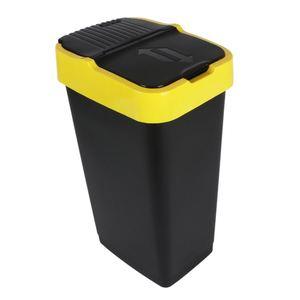Abfalleimer mit Schwingdeckel Gelb 60L