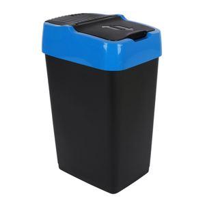 Abfalleimer mit Schwingdeckel Blau 18L