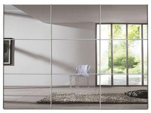 Express Möbel Schwebetürenschrank Bianco 3-türig in Weiß Dekor mit Spiegel