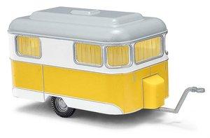 BUSCH 51701 H0 Nagetusch Wohnwagen gelb