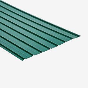 Trapezblech Stahl verzinkt beschichtet grün 200 x 93 cm