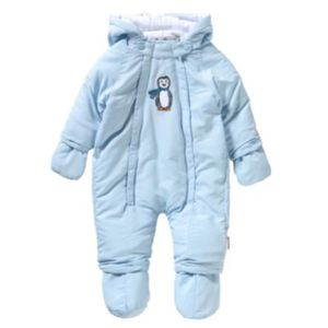 PLAYSHOES Schneeanzug Overall Pinguin Gr. 62 Jungen Baby