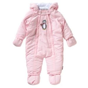 PLAYSHOES Schneeanzug Overall Pinguin Gr. 62 Mädchen Baby