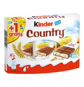 FERRERO             KINDER Country 9+1 gratis, 235g