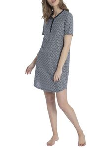 Calida Sleepshirt, Länge 95cm, night shadow, blau, M