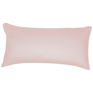 Satin-Zierkissenbezug (40x80, rosa)