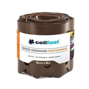 Rasenkante perforiert braun 15cm hoch und 9m lang Cellfast
