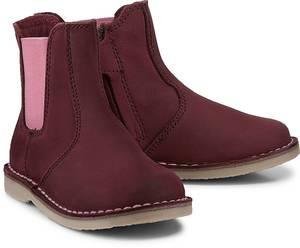 Chelsea-Boots von Skør in bordeaux für Mädchen. Gr. 27,28,29,30,31,32