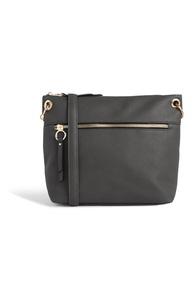 Schwarze Handtasche mit Reißverschluss