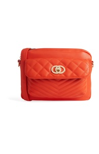 Gesteppte Tasche in Orange