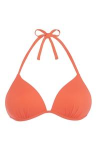 Korallfarbenes Bikinitop