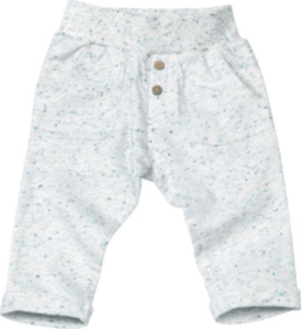 ALANA Baby-Sweathose, Gr. 74, in Bio-Baumwolle und recyceltem Polyester, natur, blau, für Mädchen und Jungen