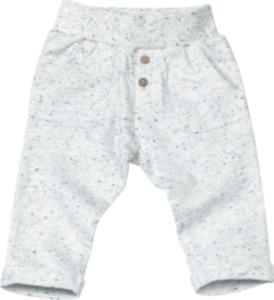 ALANA Baby-Sweathose, Gr. 62, in Bio-Baumwolle und recyceltem Polyester, natur, blau, für Mädchen und Jungen
