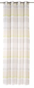 Elbersdrucke Ösenschal Sweet Love Stripe ´´offwhite-beige-grün, 140 x 255 cm´´