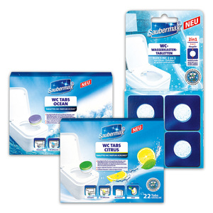 Saubermax WC Tabs / Wasserkastentabletten 2in1