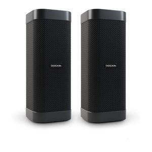Dockin D Mate Stereo Link 2er BUNDLE, Bluetooth Lautsprecher, 25 Watt, Stereo-Link, IPX6 , aptX, Powerbank