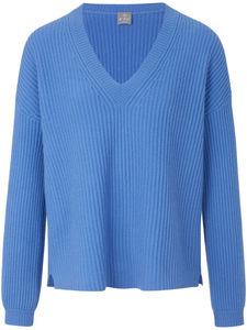 V-Pullover aus 100% Kaschmir FTC Cashmere blau