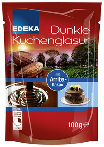 EDEKA Dunkle Kuchenglasur 100 g