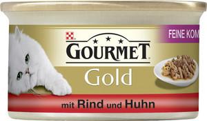 Purina Gourmet Gold Feine Komposition mit Rind & Huhn Katzenfutter nass 85 g