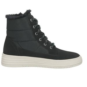 Damen High Top Sneaker, schwarz