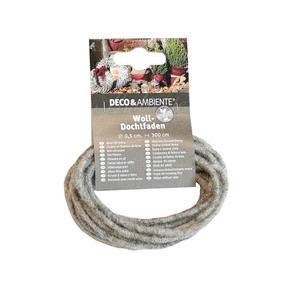 Videx              Woll-Dochtfaden, stein, 300 cm