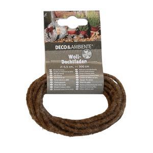 Videx              Woll-Dochtfaden, dunkelbraun, 300 cm