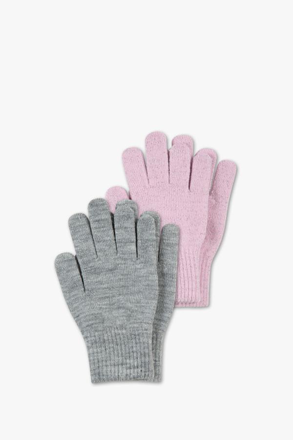 Handschuhe - 2 Paar - Glanz Effekt