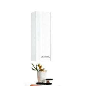 MASANO Wandschrank Weiß Hochglanz ca. 30 x 73 x 18 cm