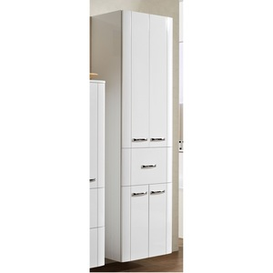 MASANO Hochschrank Lack Weiß Hochglanz ca. 50 x 182 x 36 cm