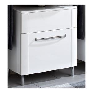 Waschbeckenunterschrank Weiß Hochglanz ca. 60 x 57 x 38 cm