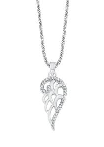 Damen Halskette Silber rosévergoldet