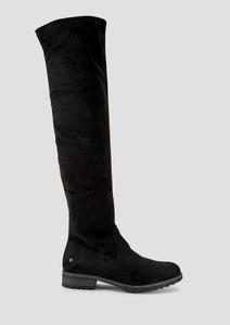 Overknee-Stiefel aus Velours