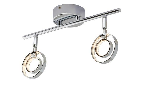 LED- Deckenstrahler, 2-flammig, chrom