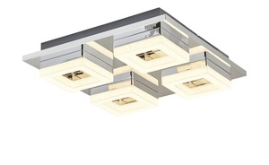 LED-Deckenleuchte, 4-flammig chrom