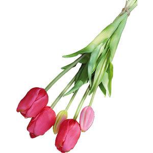 Andreas Kunstpflanzen Tulpenbund, französisch, 47 cm, pink
