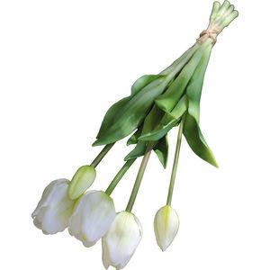 Andreas Kunstpflanzen Tulpenbund, französisch, 47 cm, weiß/grün