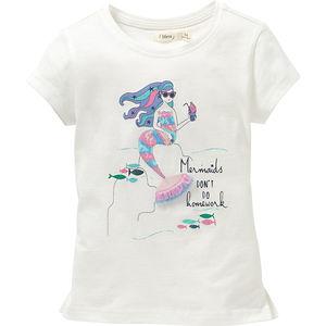 Sfera Mädchen-T-Shirt Mermaids Pailletten