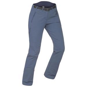 Softshellhose Winterwandern SH500 X-Warm Stretch Damen grau