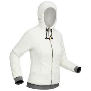 Fleecejacke Winterwandern SH100 Ultra-Warm Damen weiß