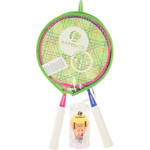 Badmintonset Discover Schläger Kinder rosa/blau