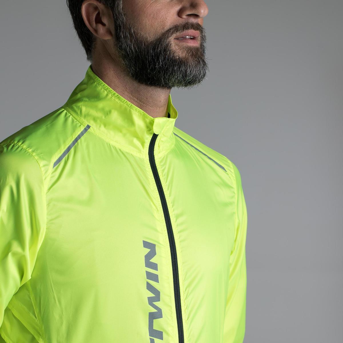 Bild 5 von Fahrrad-Windjacke Langarm Rennrad Ultralight Herren neongelb