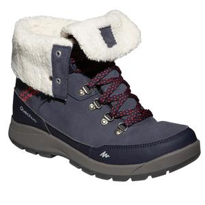 Winterschuhe Winterwandern SH500 X-Warm wasserdicht Damen blau
